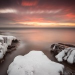 winter sunrise over Lake Superior