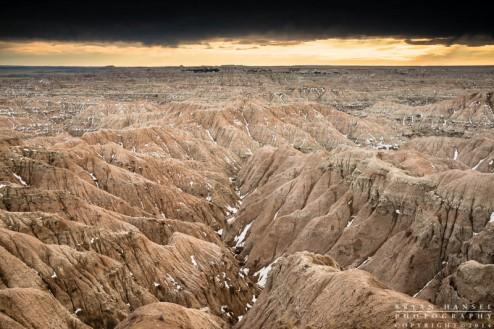 badland formations