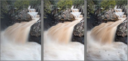 processing an image in Adobe Lightroom for visual flow