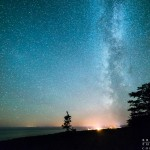 the milky way over Lake Superior and Grand Marais