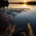 sunset over Cascade Lake