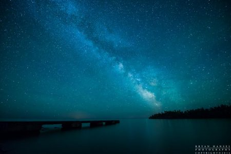 the milky way over hovland dock