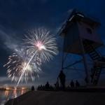 fireworks over GRand Marais, minnesota