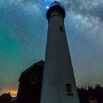 Au Sable Light Station and the Milky Way