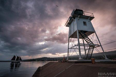 Grand Marais lighthouse and Hjordis
