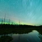 star trails on Bally Creek