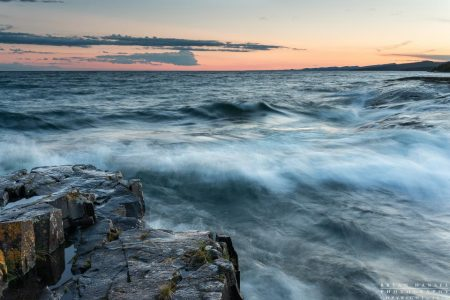 waves on Lake Superior in Cook County, Minnesota
