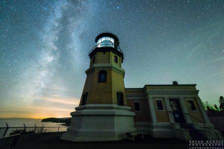 Milky Way at Split Rock Lighthouse