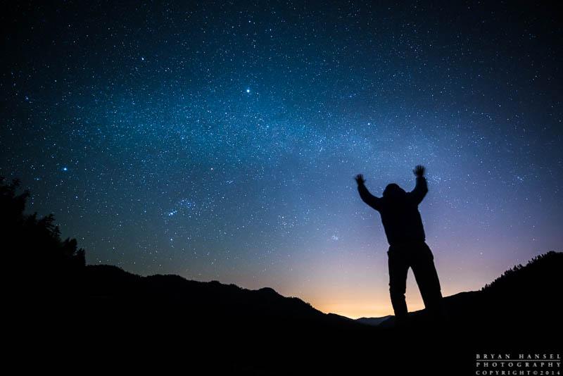 magic man stirring the stars