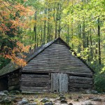 """Noah """"Bud"""" Ogle barn in the fall"""