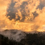 great smoky mountains ridgeline looks like its on fire