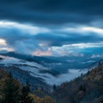 fall colors, fog and smoke in the smokies