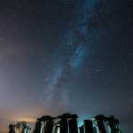 milky way over carhenge