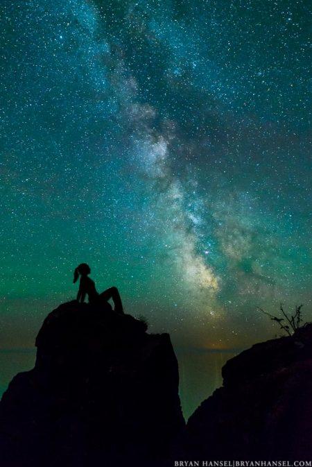 mud flap girl under the Milky Way.