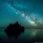 Iridium Flare above Lake Superior
