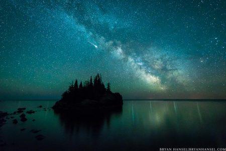 Iridium Flare above Lake Superior
