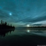150510-7 Venus and Jupiter over Cascade Lake