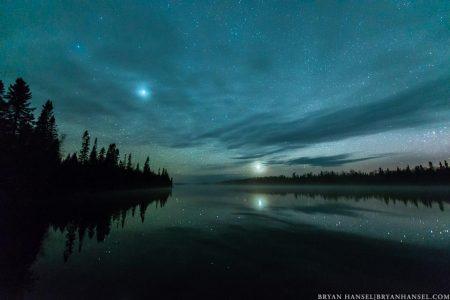 150510-7 Venus and Jupiter over Cascade Lake