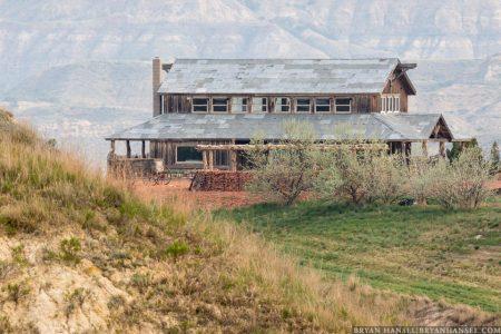 home near the Badlands