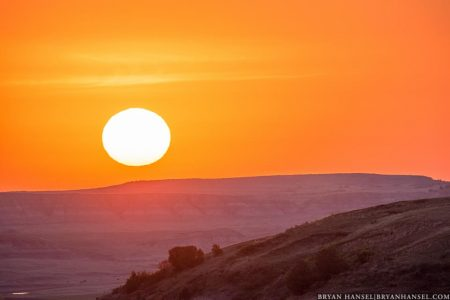 Sunrise over the Badlands
