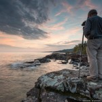Paul Sundberg photographing Lake Superior