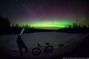 princeton tec headlamp under the northern lights