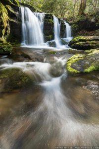 small waterfall in the Smokies