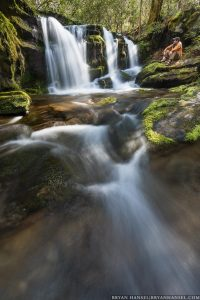 selfie next to waterfalls