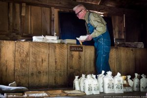 mill worker in cades cove