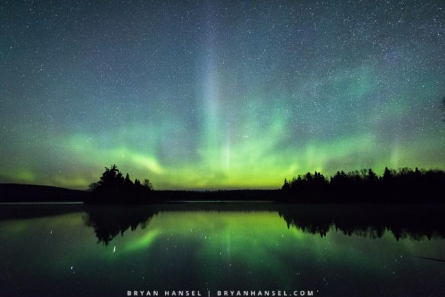 northern lights in northern minnesota