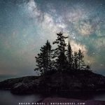 The Milky Way over Lake SUperior and the tombolo