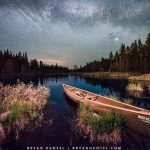International Space Station and a canoe
