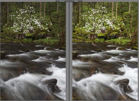 before and after in Lightroom class