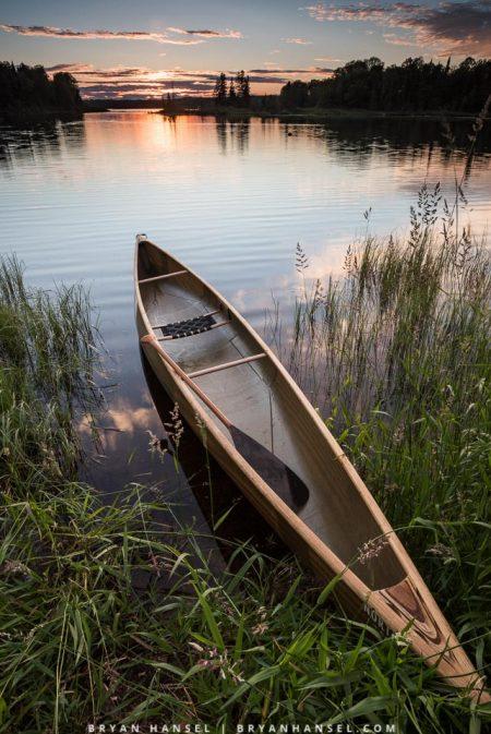 Northstar Magic canoe at sunset