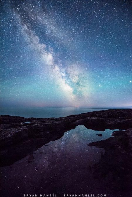 Milky Way over Lake Superior at Father Baraga's Cross