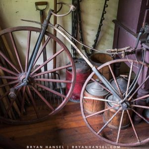 wooden bike antique