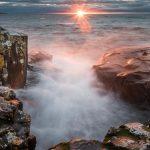 sunrise over Lake Superior from GRand Marais