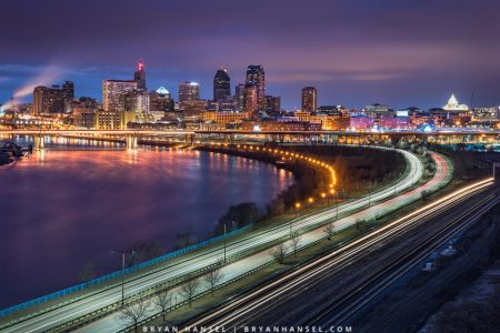 st. paul blue hour from indian mounds park