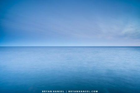 The horizon of Lake Superior