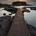 sunrise over ARtist's Point from the breakwater